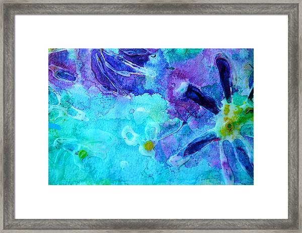 Blue Water Flower Framed Print
