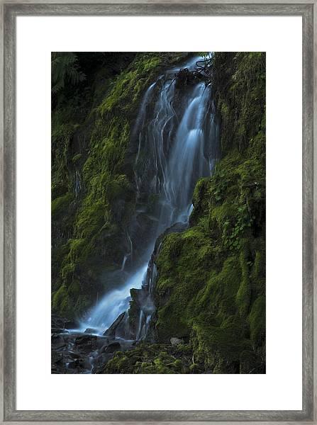 Blue Waterfall Framed Print