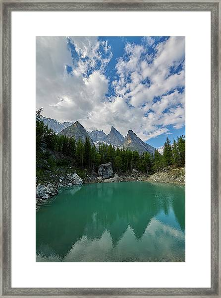 Blue Waters Of The French Alps Framed Print