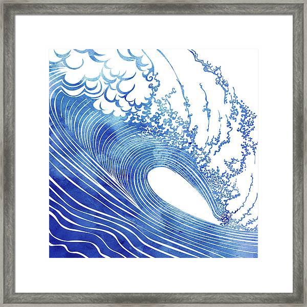 Blue Wave Framed Print