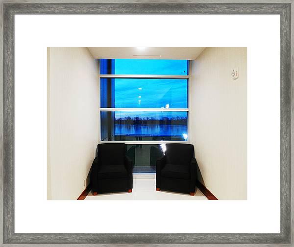 Blue Window Framed Print