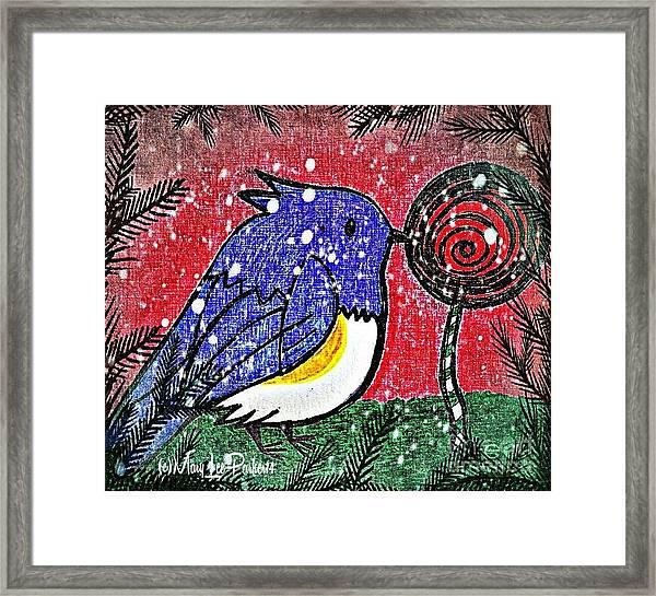 Bluebird Of The Season Framed Print