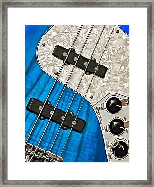 Framed Print featuring the photograph Blues Bass by William Jobes
