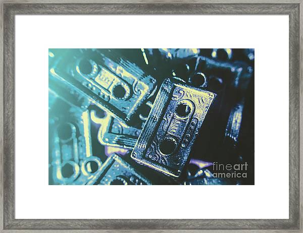 Blues On Cassette Framed Print