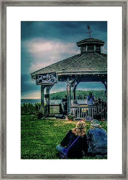 Blues On The Bay Framed Print