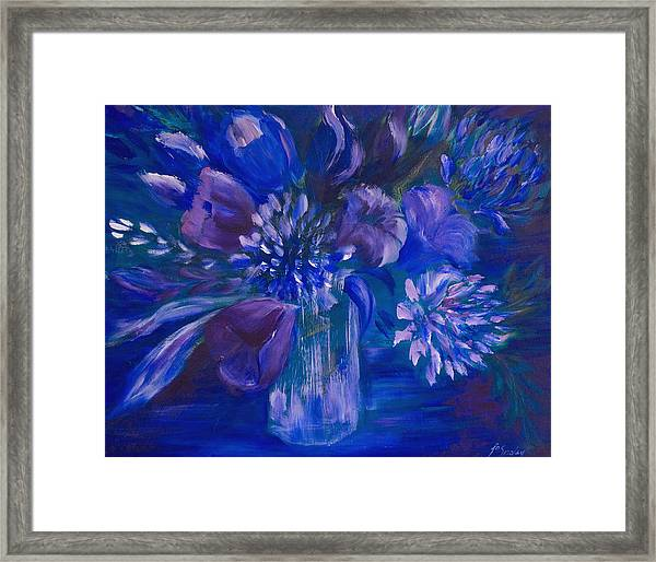 Blues To Brighten Your Day Framed Print