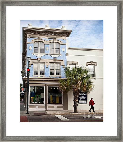 Bluesteins Menswear Charleston Sc  -7434 Framed Print