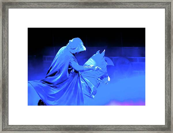 Blule Knight Of Round Table Framed Print