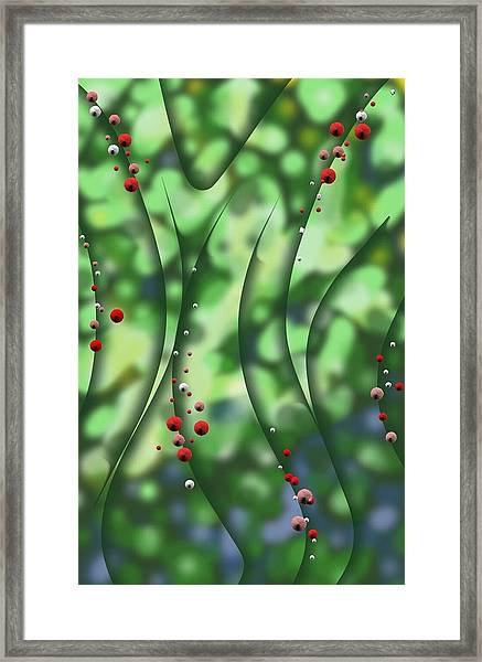 Blurred Lines 01 - Floral Inclinations Framed Print