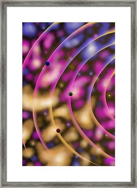 Blurred Lines 02 - Nebulaic Vibrations Framed Print