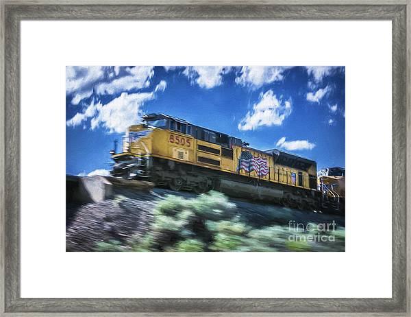 Blurred Rails Framed Print