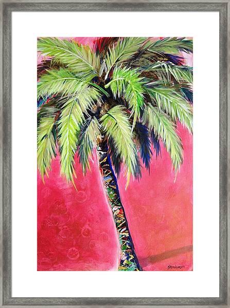 Blushing Pink Palm Framed Print