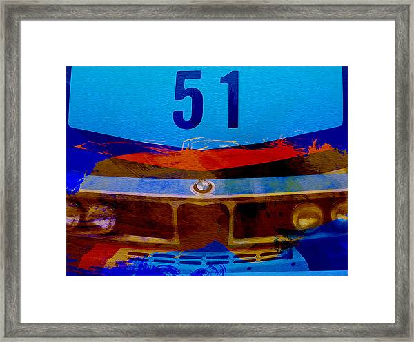 Bmw Racing Colors Framed Print
