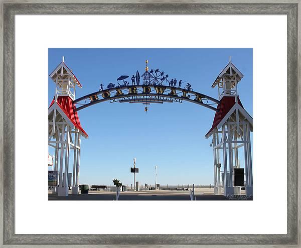 Boardwalk Arch At N Division St Framed Print