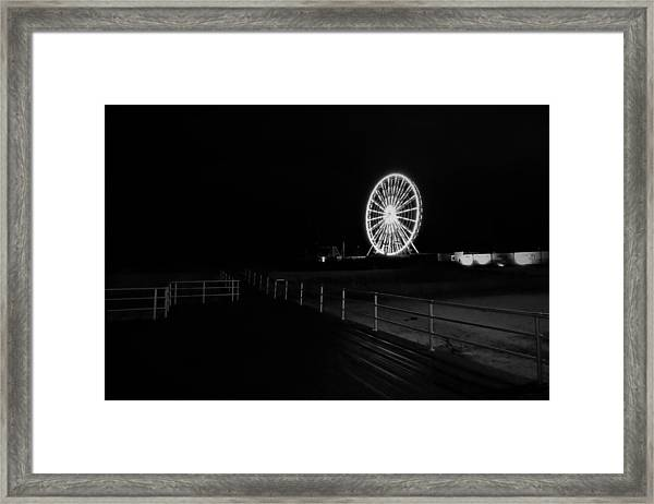 Boardwalk Beach Amusement Framed Print