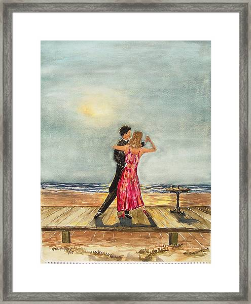 Boardwalk Dancers Framed Print