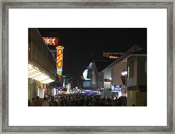 Boardwalk Night Lights Framed Print