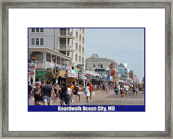 Boardwalk Ocean City Md Framed Print