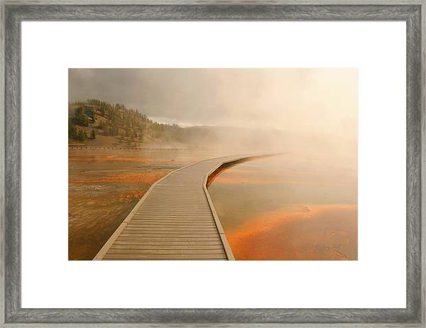 Boardwalk Of Life Framed Print