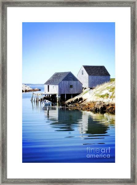 Boat Houses Framed Print