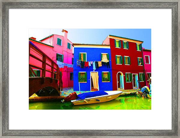 Boat Matching House Framed Print