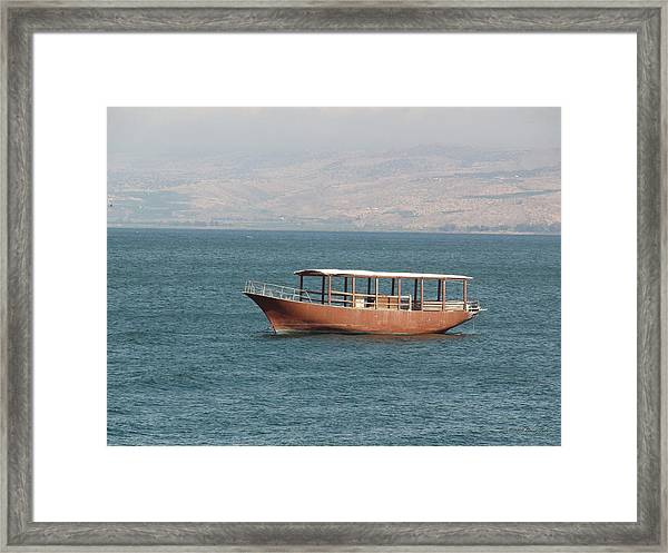 Boat On Sea Of Galilee Framed Print