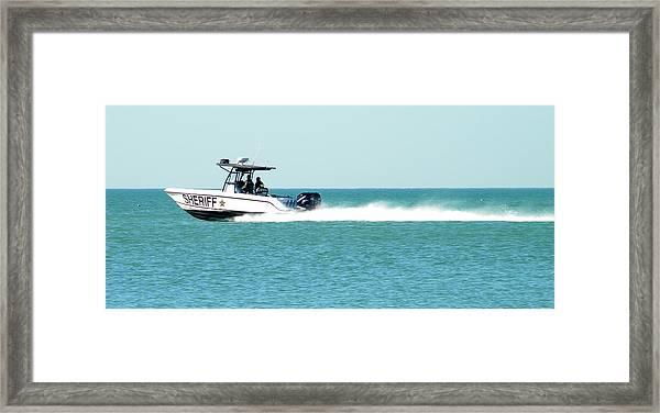 Boat Police Framed Print