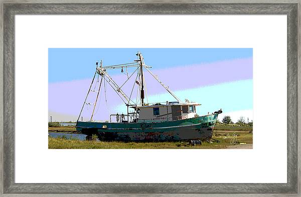 Boat Series 5 West Pointe A La Hache 2 Grounded Framed Print by Paul Gaj