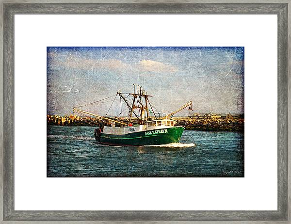 Boat Texture Manasquan Inlet Framed Print by Angel Cher