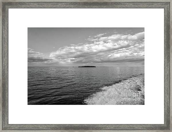 Boat Wake On Florida Bay Framed Print