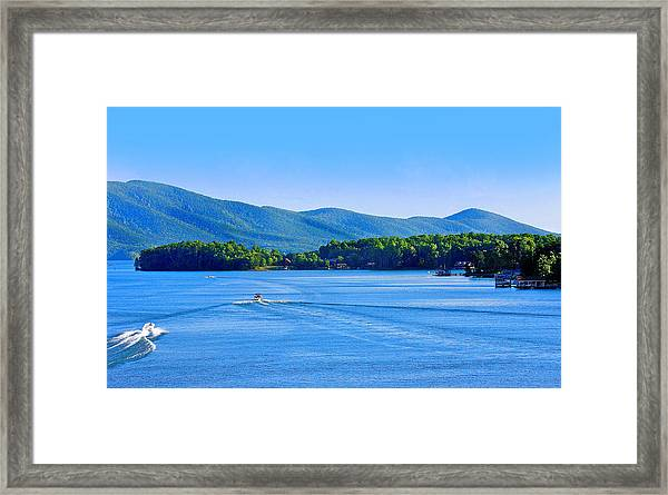 Boaters On Smith Mountain Lake Framed Print