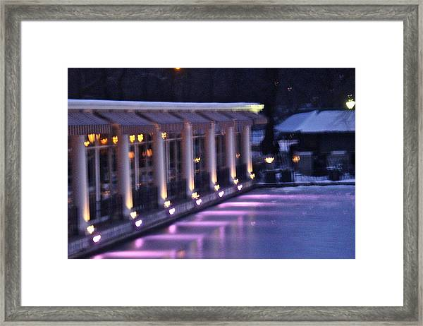 Boathouse - Central Park Nyc Framed Print