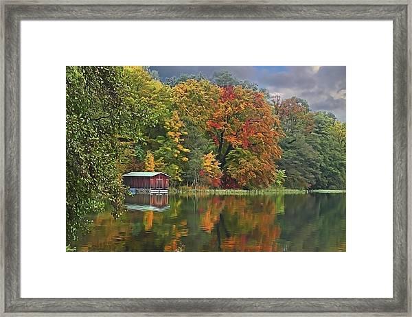 Boathouse Framed Print