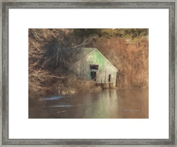 Boathouse On Solstice Framed Print