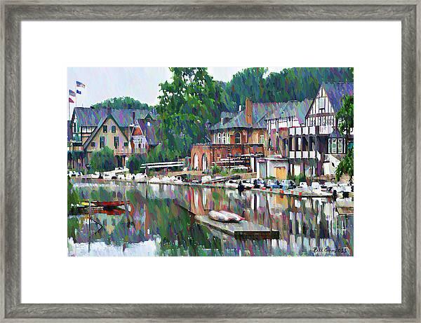 Boathouse Row In Philadelphia Framed Print