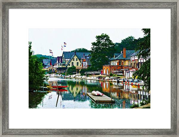Boathouse Row In Philly Framed Print