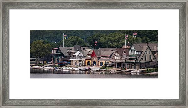 Boathouse Row Philadelphia Pa  Framed Print