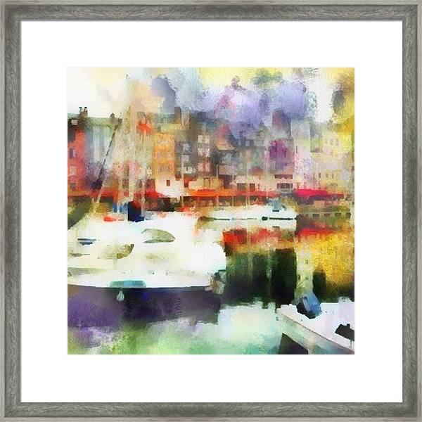 Boating In Honfleur Framed Print