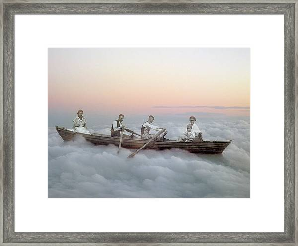 Boating On Clouds Framed Print