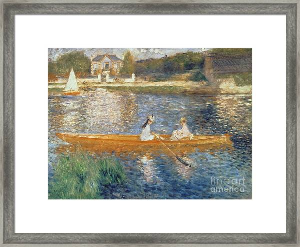 Boating On The Seine Framed Print