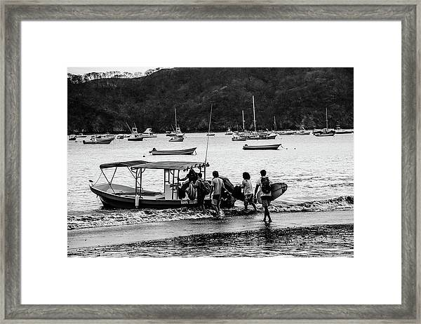 Boats And Boards  Framed Print