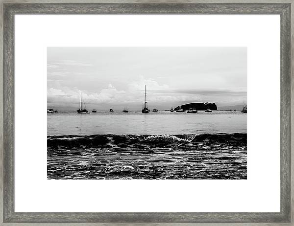 Boats And Waves 2 Framed Print