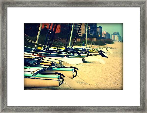 Boats Ashore Framed Print