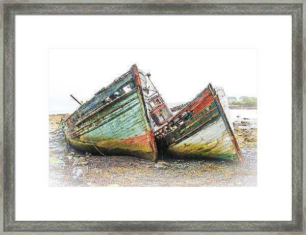 Boats Isle Of Mull 4 Framed Print