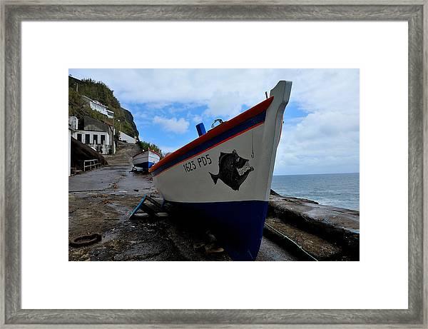 Boats,fishing-26 Framed Print