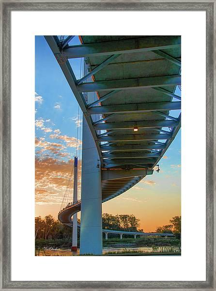 Bob Kerry Bridge At Sunrise-2 Framed Print