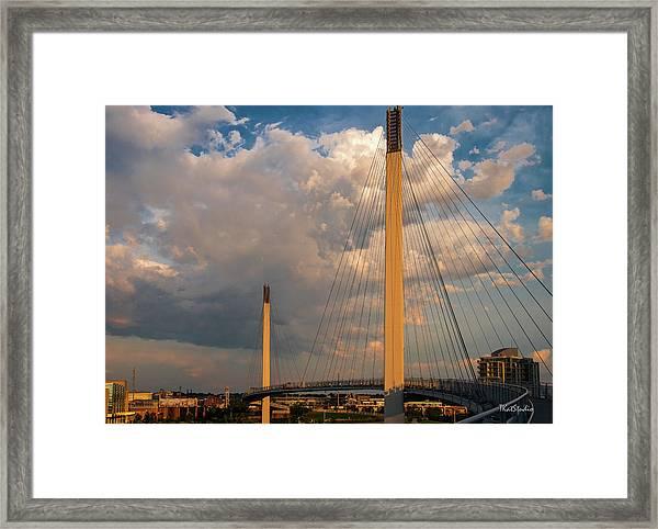 Bob Kerry Bridge At Sunrise-3 Framed Print