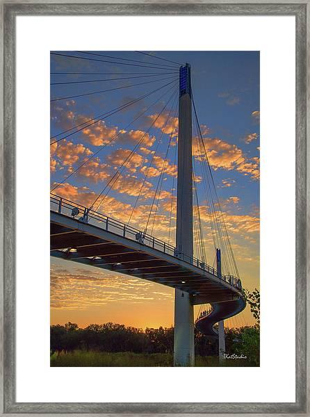 Bob Kerry Bridge At Sunrise Framed Print