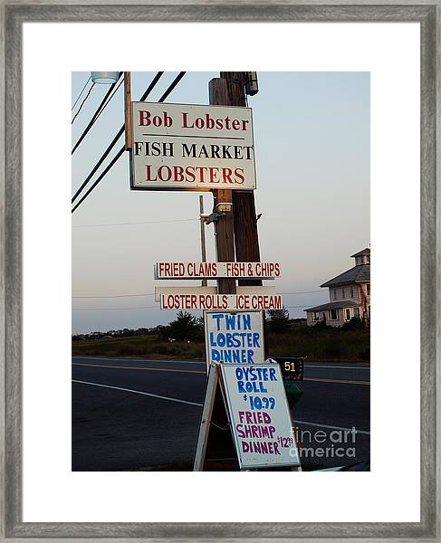 Bob Lobster Fish Market Framed Print