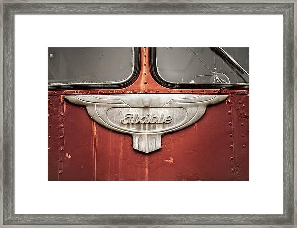 Bob Wills And His Texas Playboys Tour Bus Framed Print